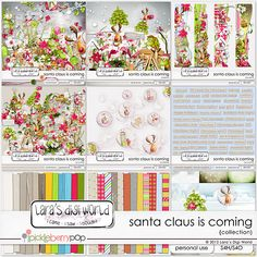 Deal of the DAY - save 60% off, only by 11:59 pm EST Santa Claus is Coming collection by Lara's Digi World