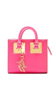 Box Pink Albion Box Tote Bag by Sophie Hulme for Preorder on Moda Operandi