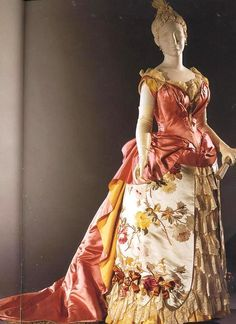 1886 Worth Evening Gown