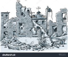 Image result for ruined buildings