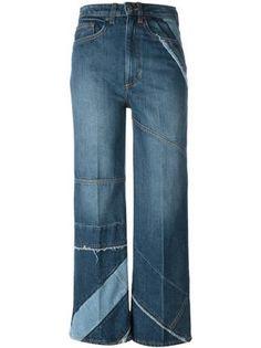 Marc By Marc Jacobs Cropped-Jeans mit Einsätzen
