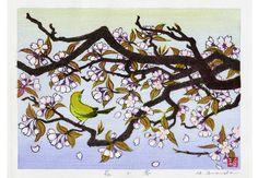 HANAKYAKU (Sakura blossom): A woodblock print by Hirokazu Fukuda ...