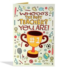 Best Teacher Greeting Card Whooo's The Best Teacher You Are ! Happy Teachers Day Wishes, Teachers Day Card, Best Teacher, Teacher Gifts, Teachers' Day, Messages, Gift Boxes, Journal Inspiration, Thank You Cards