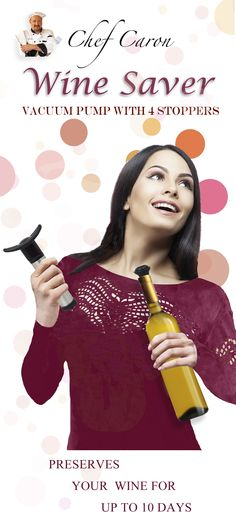 Preserve your opened bottle of wine for up to 10 days with this handy gadget that vacuum seals the bottle.