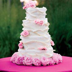 romantic ruffles wedding cake ~ so pretty!