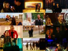 rose tyler & the doctor season 1. My favorite pictures of them are the two all the way to the left on rows 2 and 3  :)