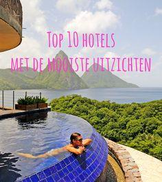 Het liefst wil je natuurlijk een hotel met een prachtig uitzicht op de stad, de zee of de natuur hebben. Sommige hotels hebben zichzelf hierin overtroffen. De top tien hotels met de mooiste uitzichten vind je hier!