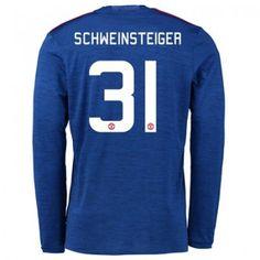 Manchester United 16-17 Bastian Schweinsteiger 31 Bortatröja Långärmad  #Fotbollströjor