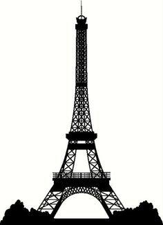 paris silhouette | Eiffel Tower Silhouette Vinyl Decal | Car Decal | Cityscapes Decals ...