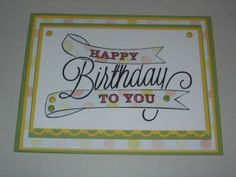 Stampin' Up Another Great Year Card  from the Celebrate the Everyday Catalog