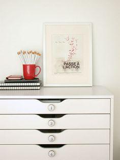 Organization with Ikea Alex. $119