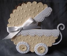 Cream Baby Carriage  Cards, Cardmaking