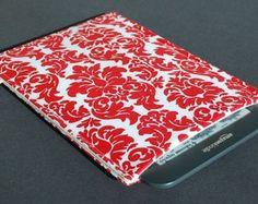 Kindle Case / Nook Color Case / Kobo Case / Nook Case / Kindle Cover / NookColor Cover / Kobo Cover / Nook Cover / Kindle 3 - Damask Red
