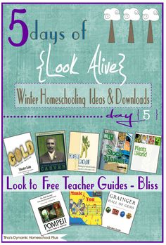5 Days of Look Alive Winter Homeschooling. Day 5. Free Teacher Guides Bliss! @ Tina's Dynamic Homeschool Plus