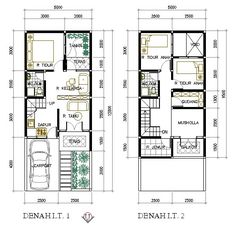 Minimalist House Plan 5x9.5 Meter 2 Floor