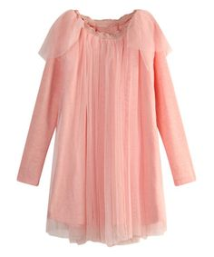 Another great find on #zulily! Pink Tulle Overlay Dress - Toddler & Girls #zulilyfinds