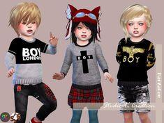 Studio K Creation: Boy London Sweat for toddler • Sims 4 Downloads