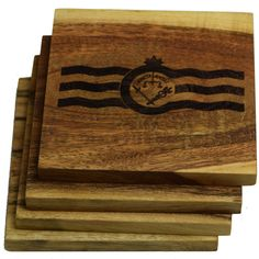 Cincinnati Ohio Flag Coasters