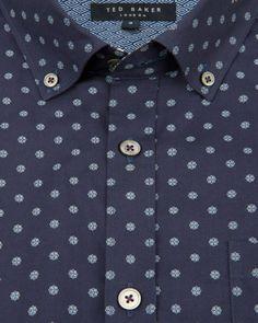 Geo print shirt - Navy | Shirts | Ted Baker UK