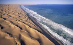Namib Desert Ocean HD Wallpaper