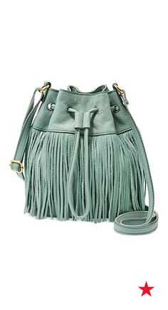 93c3797c6796c Fossil Jules Fringe Leather Drawstring Mini Bag Handbags   Accessories -  Macy s