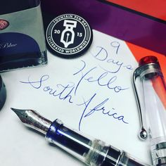 """9 Days till FountainPen Day 2015. Hello South Africa! #fountainpenday"""