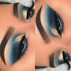 Gorgeous Makeup: Tips and Tricks With Eye Makeup and Eyeshadow – Makeup Design Ideas Makeup Eye Looks, Eye Makeup Steps, Eye Makeup Art, Blue Eye Makeup, Makeup Geek, Eyeshadow Makeup, Eyeliner, Eyeshadow Palette, Easy Eyeshadow