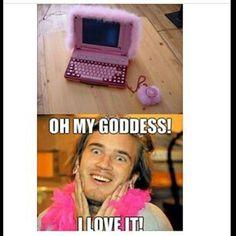 Pewdepie being fabulous! Lol