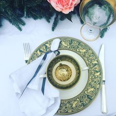 """Sosojamesstyle on Instagram: """"At SosoJames you can now hire this gorgeous dinner setting. Last night's celebration dinner had it all! Peonies with a touch of Christmas!…"""" Last Night, Tablescapes, Peonies, Celebration, Plates, Entertaining, Touch, Canning, Dinner"""