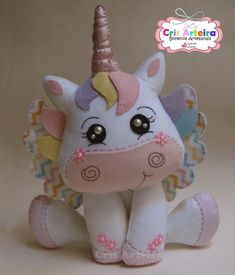 Pastel Color Unicorn Stuffed Dolls Soft Plush Toys for Kids Christmas Gift Felt Crafts, Diy And Crafts, Crafts For Kids, Christmas Gifts For Kids, Felt Christmas, Sewing Toys, Sewing Crafts, Bear Felt, Unicorn Crafts