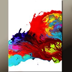 Abstract Art Painting 18x24 Original Contemporary by wostudios, $69.00