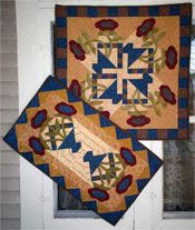 """Spring Fling! This is a Snuggles Quilts """"Fat Fun"""" project. Make the large topper or the small runner or both! http://www.kayewood.com/Spring-Fling-Table-Topper-and-Table-Runner-Pattern-by-Snuggles-Q-SQ-SPFL.htm$8.00"""