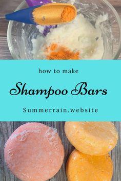 How To Make Shampoo, Diy Shampoo, Solid Shampoo, Shampoo Bar, Soap Making Recipes, Soap Recipes, Homemade Shampoo Recipes, Aromatherapy Recipes, Homemade Beauty Products