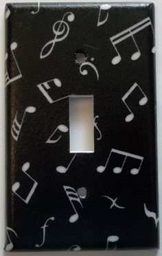 Music Band Notes Symbols Light Switch Cover Bedroom Wall Decor   eBay