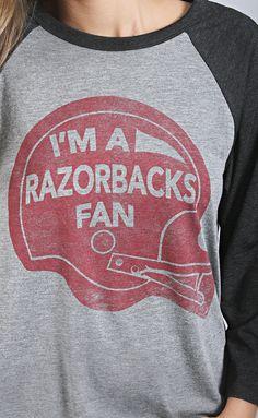 razorback fan raglan