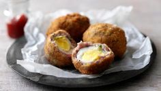 Scotch eggs Gonna try these using geotta! Scotch eggs Gonna try these using geotta! Scotch eggs Gonna try these using geotta! Scotch eggs Gonna try these using geotta! Homemade Scotch Eggs, Scotch Eggs Recipe, Easy Starters, Le Diner, Egg Recipes, Baking Recipes, Recipies, Cooking Time, Brunch