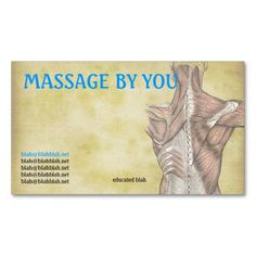 313 Best Massage Business Cards Images In 2019 Massage Business