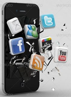 """Social Media Icons and What They Mean """"HOW TO CREATE A FRENZY"""