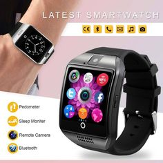 Q18 Smart Wrist Watch Bluetooth Waterproof GSM Phone For Android Samsung iPhone | Cell Phones & Accessories, Smart Watches | eBay!