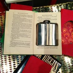 Everyone needs a special hiding place for their bourbon. This book and flask set from Conduit Press is perfect to keep your stash safe from crazy party guests!  http://blockpartyhandmade.com