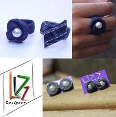 Acessórios  de jeans! Lizz Designer moda sustentável Stud Earrings, Jeans, Jewelry, Design, Fashion, Sustainable Fashion, Moda, Jewlery, Jewerly