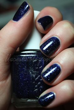 "Essie ""Starry Starry Night"". i hate it when you find a polish you HAVE to HAVE...only to find out it's not current and it is hard as hell to find! ...polishaholic problems..."