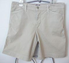 NYDJ Not Your Daughters Jeans Shorts Khaki Lift Tuck Technology Walking Size 14 #NotYourDaughtersJeans #BermudaWalking