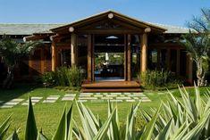 Tijolos ecológicos de solo-cimento + eucalipto + telhas de fibras ecológicas