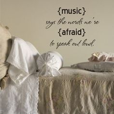 MUSIC QUOTE Vinyl Decal  Music room decor  Gift for by loladecor, $20.00
