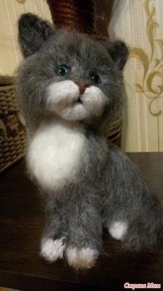 МК по котику, вязанному спицами. - Страна Мам