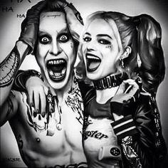 Suicide squad Joker Drawing Easy, Joker Drawings, Pencil Drawings Of Girls, Easy Drawings, Harley Quinn Tattoo, Harley Quinn Drawing, Harley Tattoos, Joker Pics, Joker Art