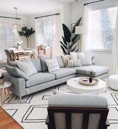 Scandinavian Sofas @crystalinmarie – This scandi style sofa is perfect in front of a round white marble table and scandi style rug!