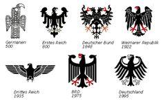 Evolution of the German Eagle through history Tattoos For Guys, Cool Tattoos, Tatoos, Adler Tattoo, Germany Tattoo, Filipino Tattoos, Eagle Tattoos, Viking Tattoos, Symbolic Tattoos