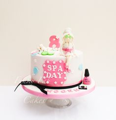 Spa day themed cake